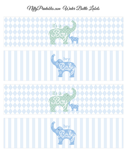 home baby shower baby shower water bottle labels elephant baby shower