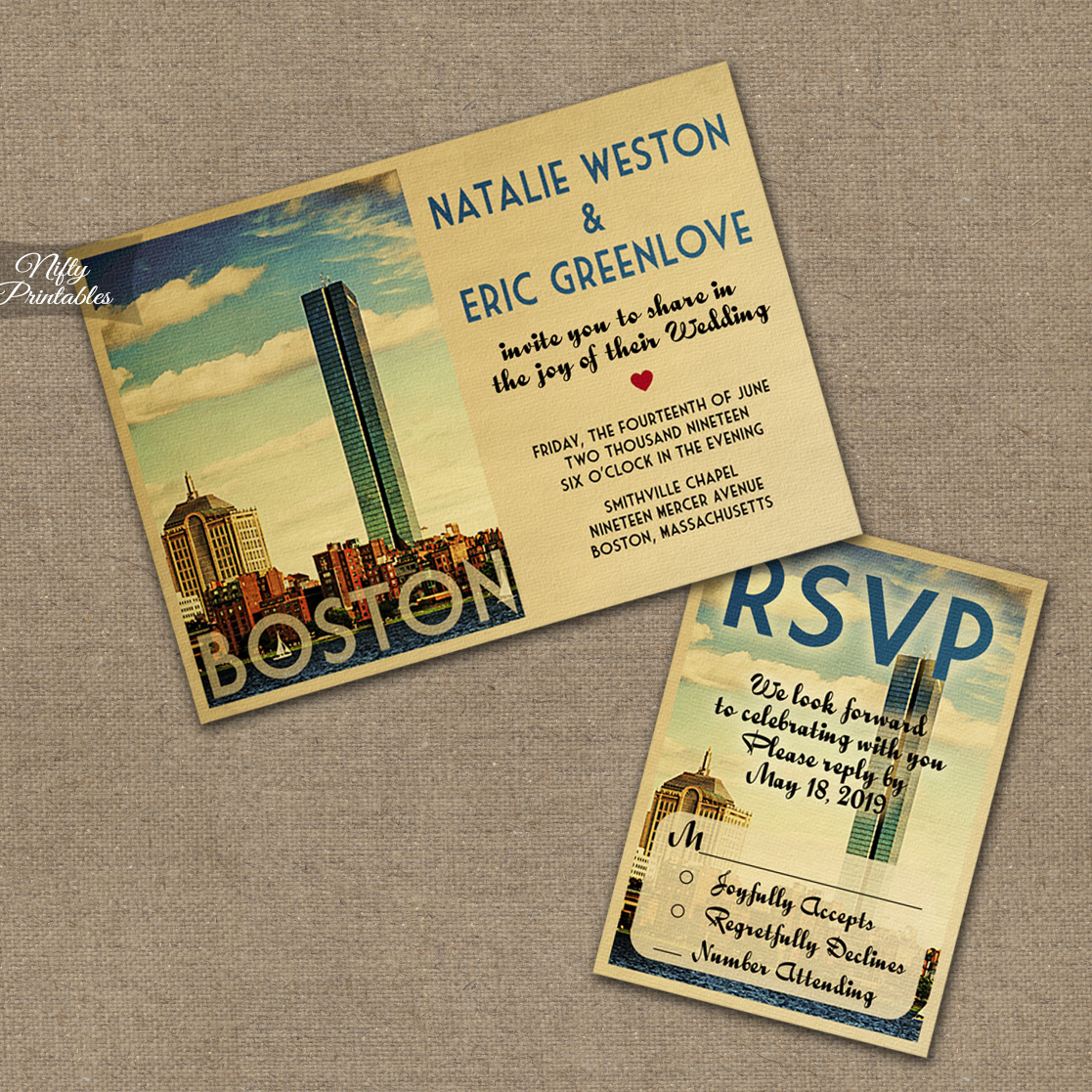 wedding invites boston wedding invitations vtw 22 00 boston wedding
