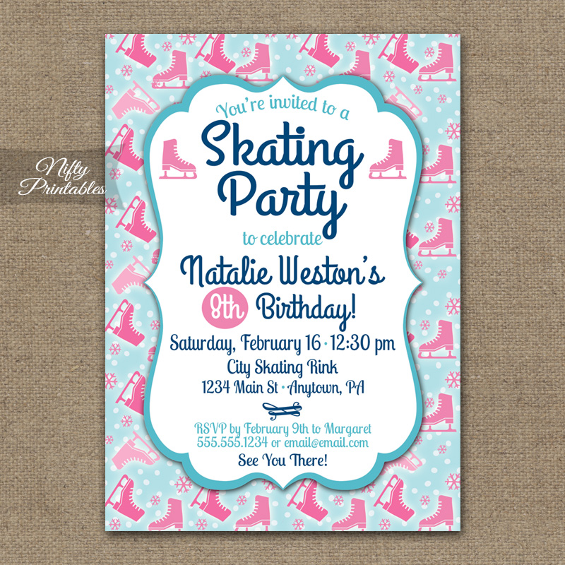 Ice Skating Birthday Invitations was very inspiring ideas you may choose for invitation ideas