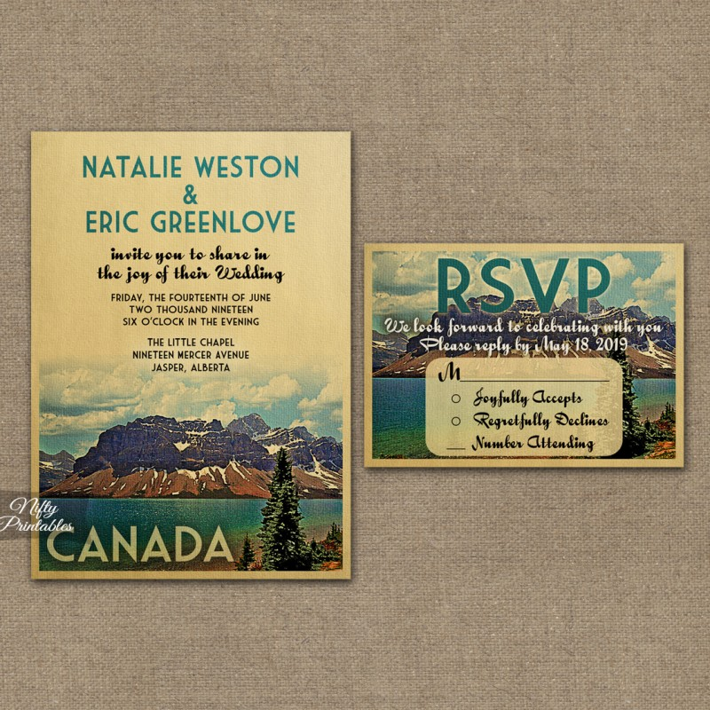 Canada Save The Date Postcards