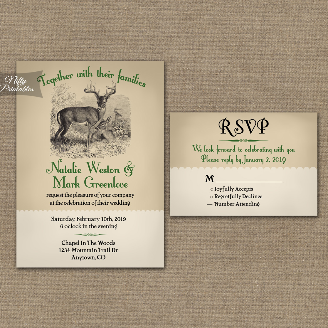 Deer Wedding Invitations is one of our best ideas you might choose for invitation design