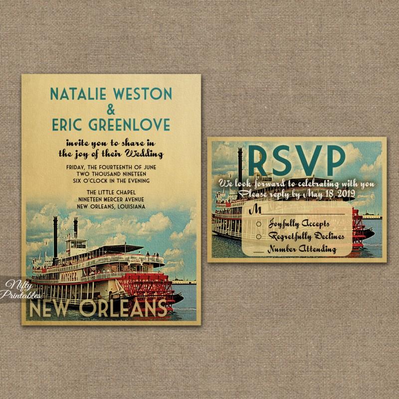 New Orleans Wedding Invitation New Orleans Louisiana Wedding Invitations VTW Nifty
