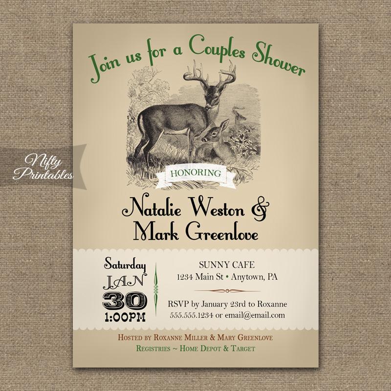 Couples wedding shower invitations woodlands nifty for Wedding couples shower invitations