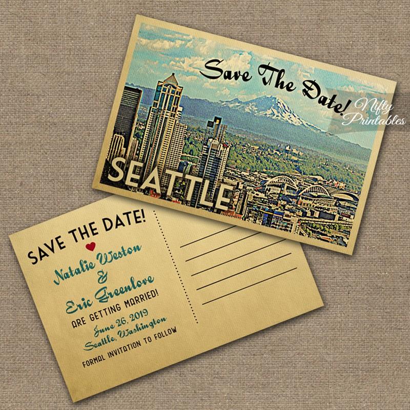 Seattle Skyline Wedding Invitations VTW