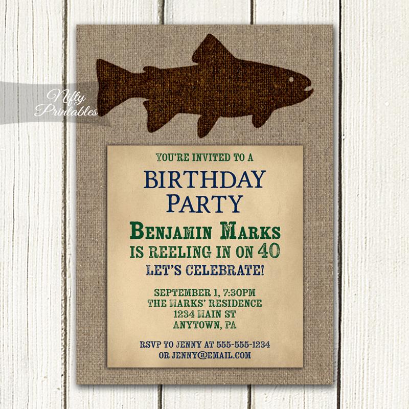 Fishing birthday invitations nifty printables for Fishing birthday invitations