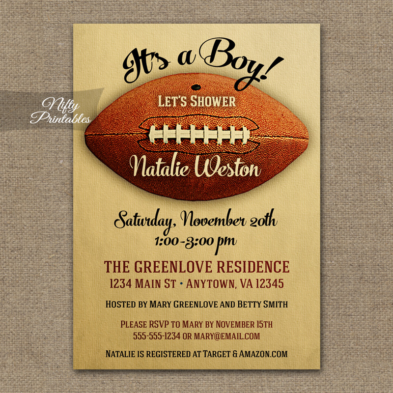 baby shower baby shower invitations football baby shower invitations
