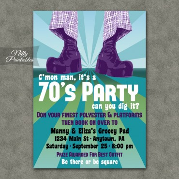 70s Party Invitations