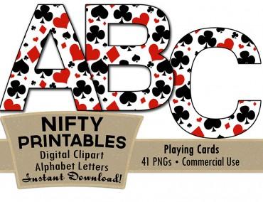 Casino Alphabet - Poker Theme