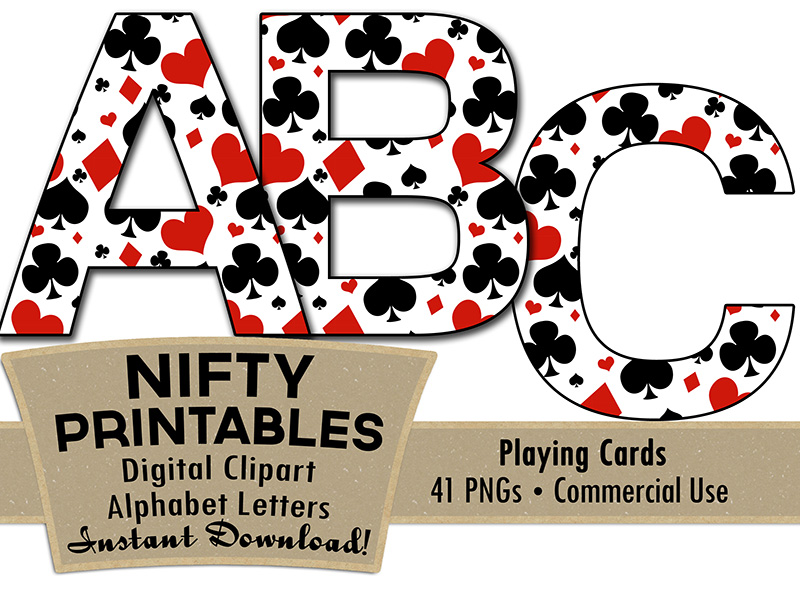 Casino Alphabet - Poker Theme