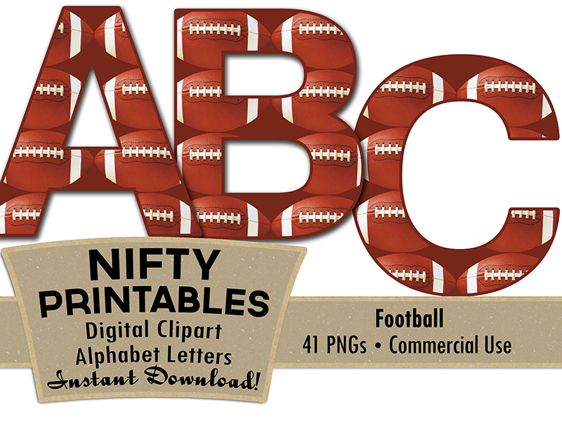 football alphabet nifty printables