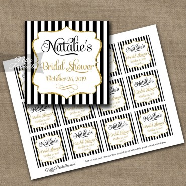 Black Gold Printable Favor Tags
