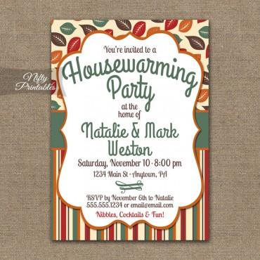 Autumn Fall Housewarming Invitations
