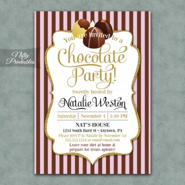Chocolate Party Invitations