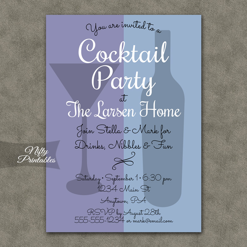 Cocktail Party Duo Invitations