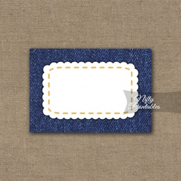 Denim Blank Labels Nametags