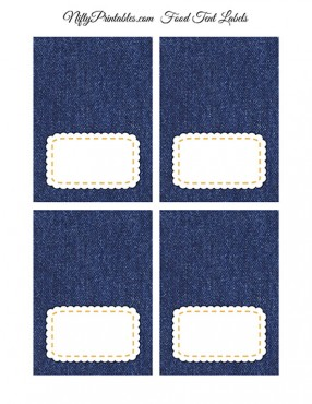 Denim Blank Place Cards or Tent Cards