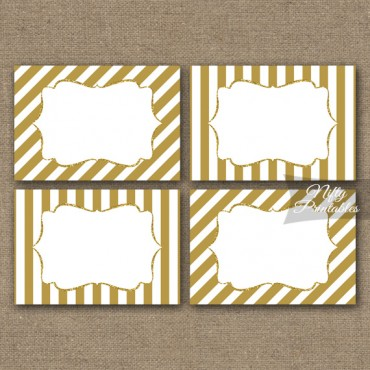 Gold Stripe Blank Labels Nametags