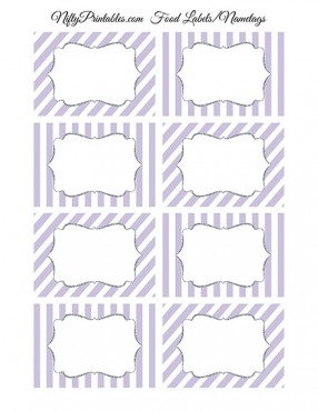 Lilac Silver Blank Labels Nametags