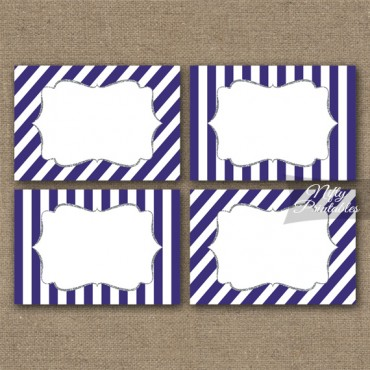 Purple Silver Blank Labels Nametags