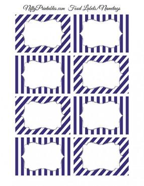 Purple Silver Blank Labels Nametags