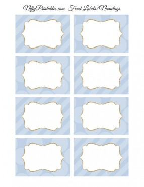 Pastel Blue Blank Labels Nametags