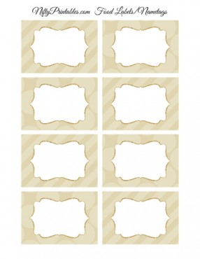 Cream Blank Labels Nametags