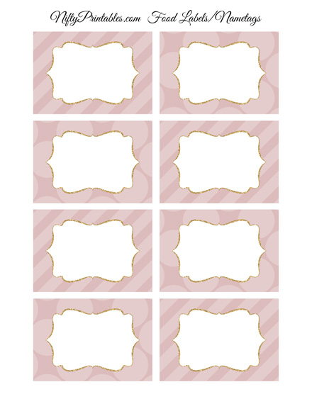 Pink Blank Labels Nametags