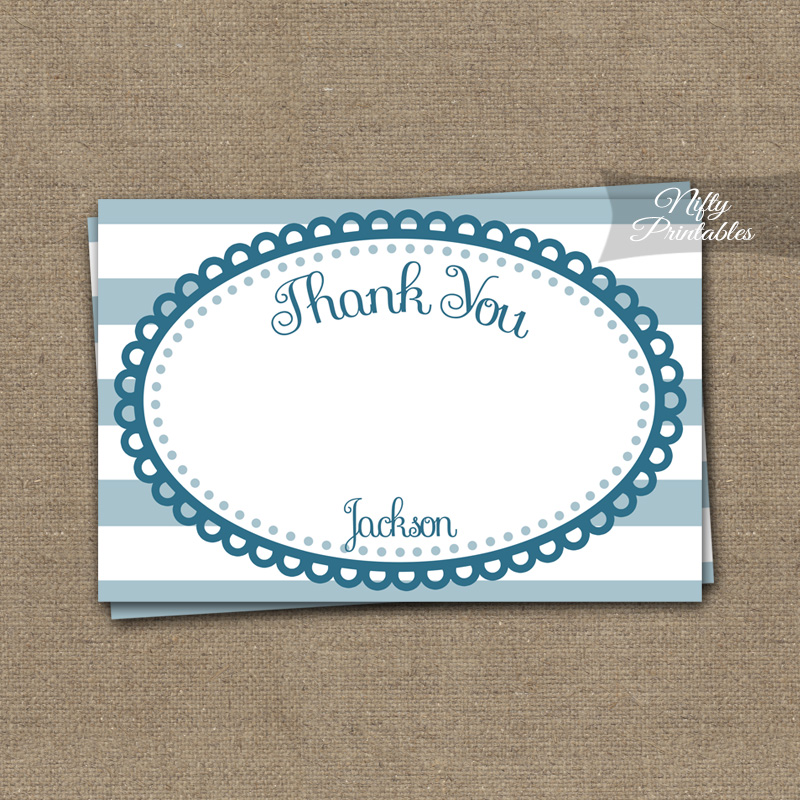 Loopy Blue White Boys Baptism Invitations