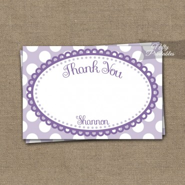 Loopy Purple White Girls Baptism Invitations