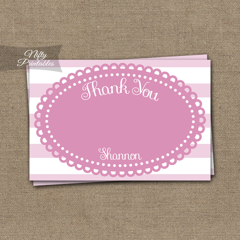 Loopy Pink White Girls Baptism Invitations