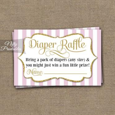 Diaper Raffle Baby Shower - Pink Gold