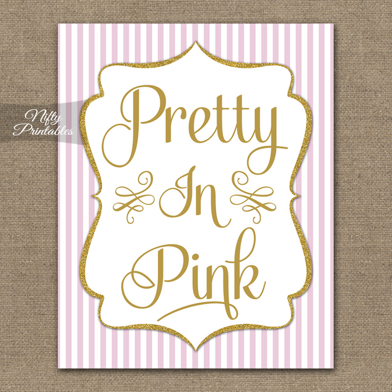 Pretty In Pink Nursery Art - Pink Gold