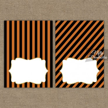 Halloween Blank Place Cards or Tent Cards
