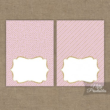 Pink Gold Solid Blank Place Cards or Tent Cards