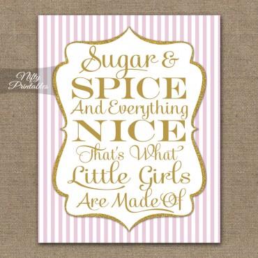 Sugar & Spice Print - Pink Gold