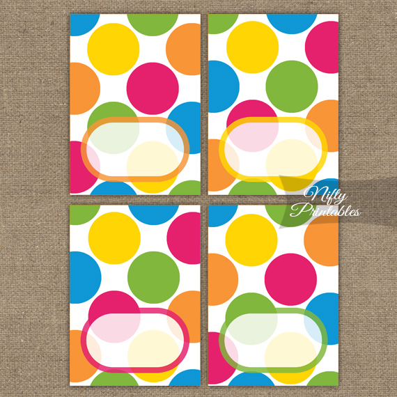 Bright Colorful Blank Place Cards or Tent Cards