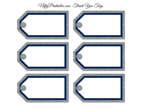 Blank favor tags navy silver glitter nifty printables blank favor tags navy silver glitter negle Gallery