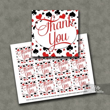 Casino Poker Thank You Favor Tags SQ