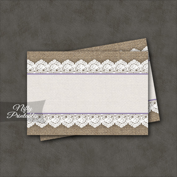 Burlap & Lace Blank Labels Nametags