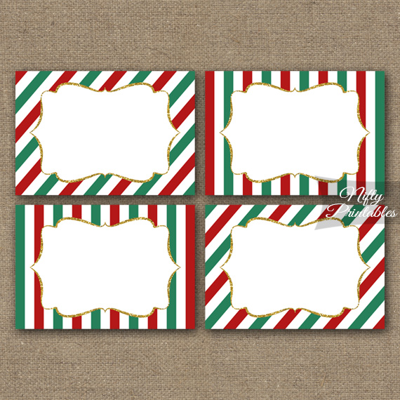 Christmas Blank Labels Nametags