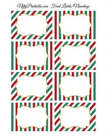Christmas Blank Labels Nametags