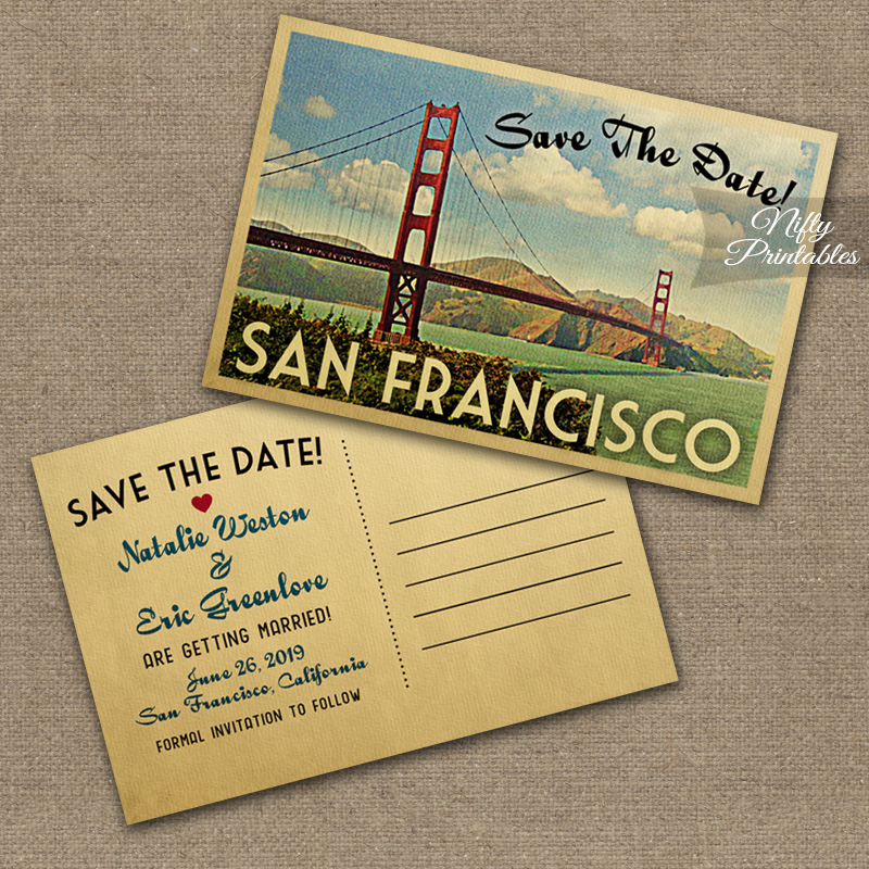 San Francisco Wedding Invitations VTW
