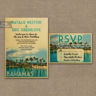 Bahamas Save The Date Postcards VTW