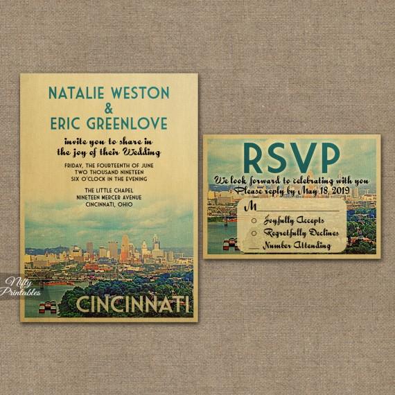 Cincinnati Ohio Wedding Invitations VTW
