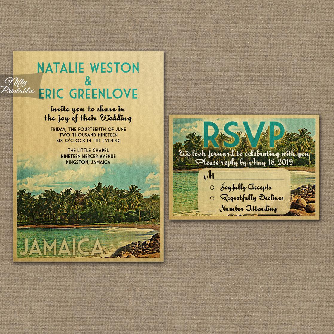 Jamaica Wedding Invitations VTW