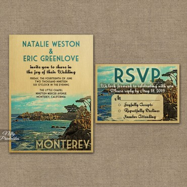 Monterey Save The Date Postcards VTW