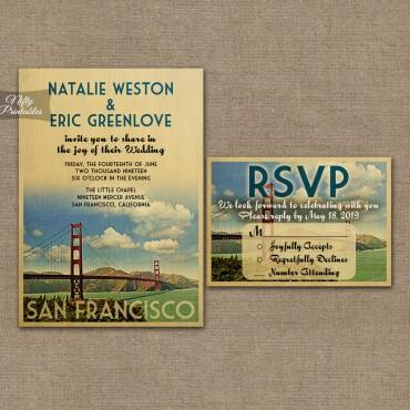 San Francisco Save The Date Postcards VTW