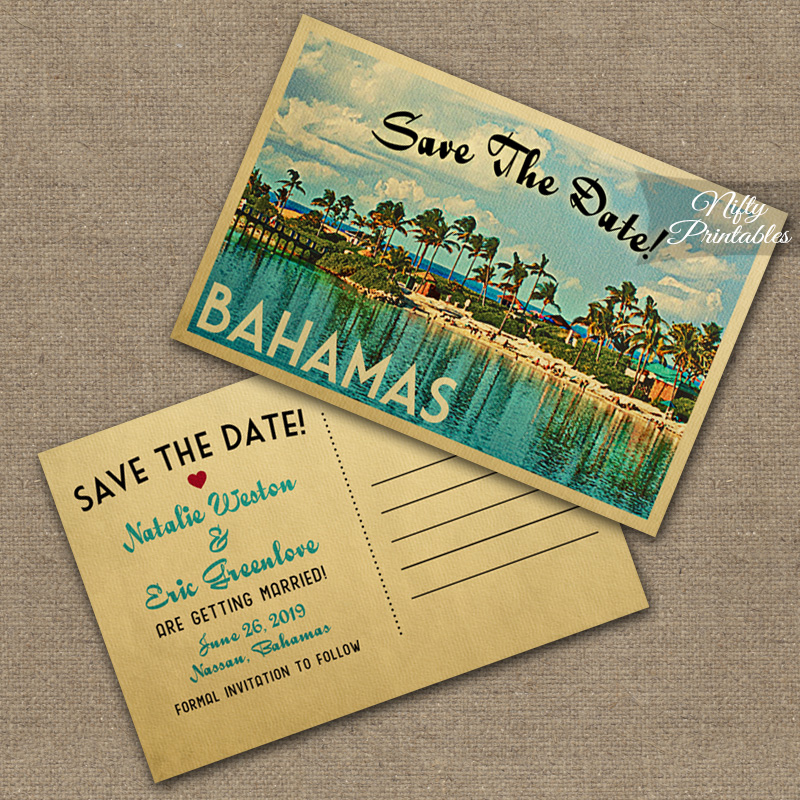 Bahamas Save The Date Postcards VTW
