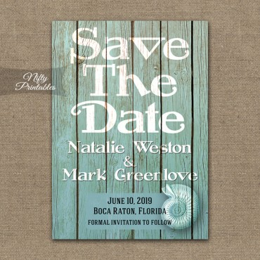 Beach Wood Nautical Save The Date