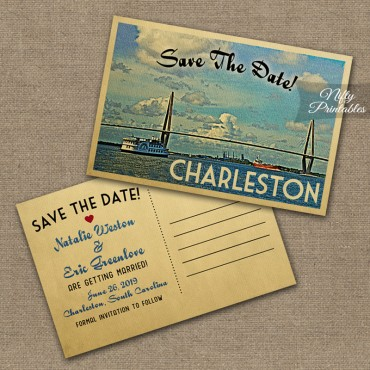 Charleston Wedding Invitations VTW